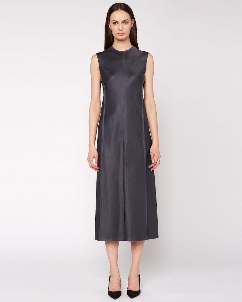 THE ROW Ceri Sleeveless Satin Midi Dress