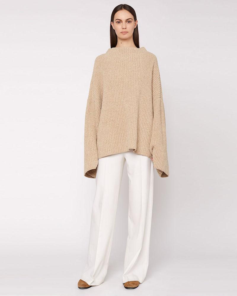 THE ROW Renata Asymmetric-Knit Cashmere Sweater