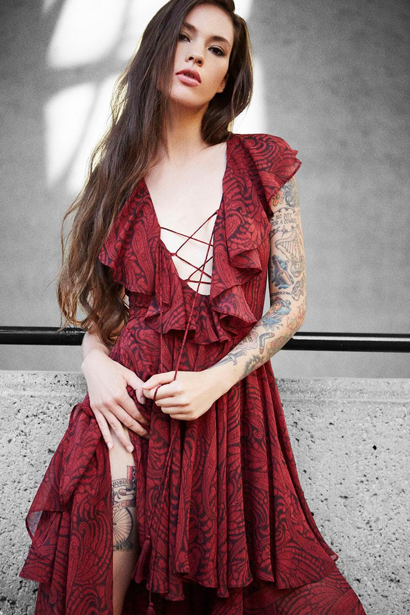 The Jetset Diaries Goddess Lace-Up Dress
