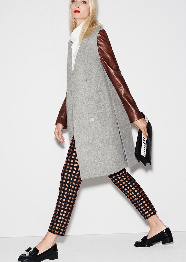 Theory Compact Wool Quennel Coat