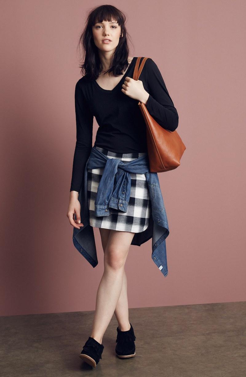 Treasure&Bond Plaid Miniskirt
