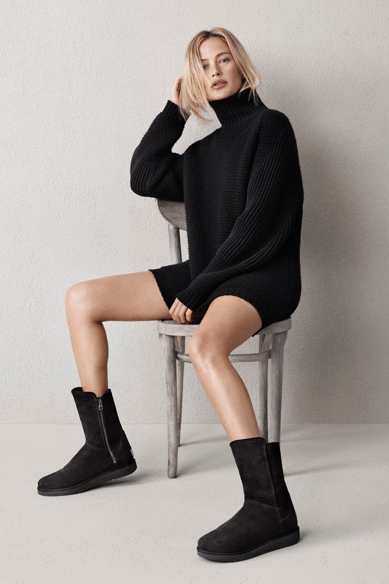 UGG Australia Classic Luxe Abree Short Boot in Black