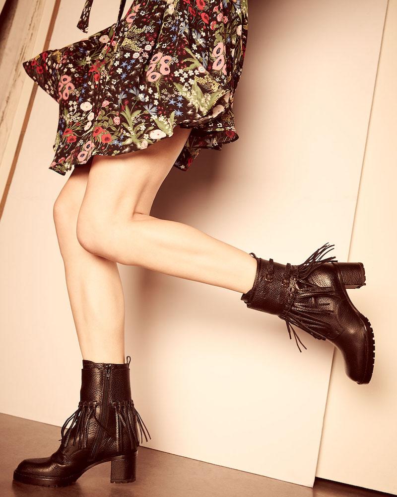 Valentino Tassel Leather Combat Boot