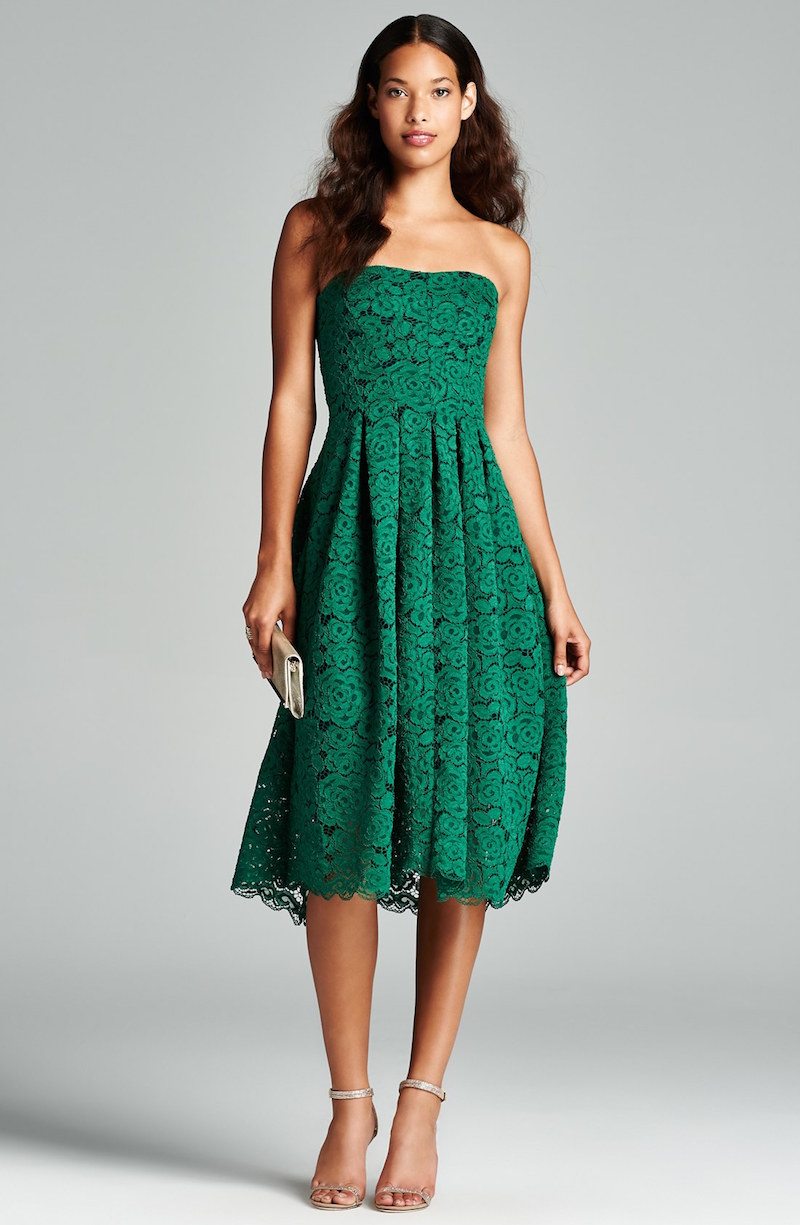 Vera Wang Lace Fit & Flare Dress