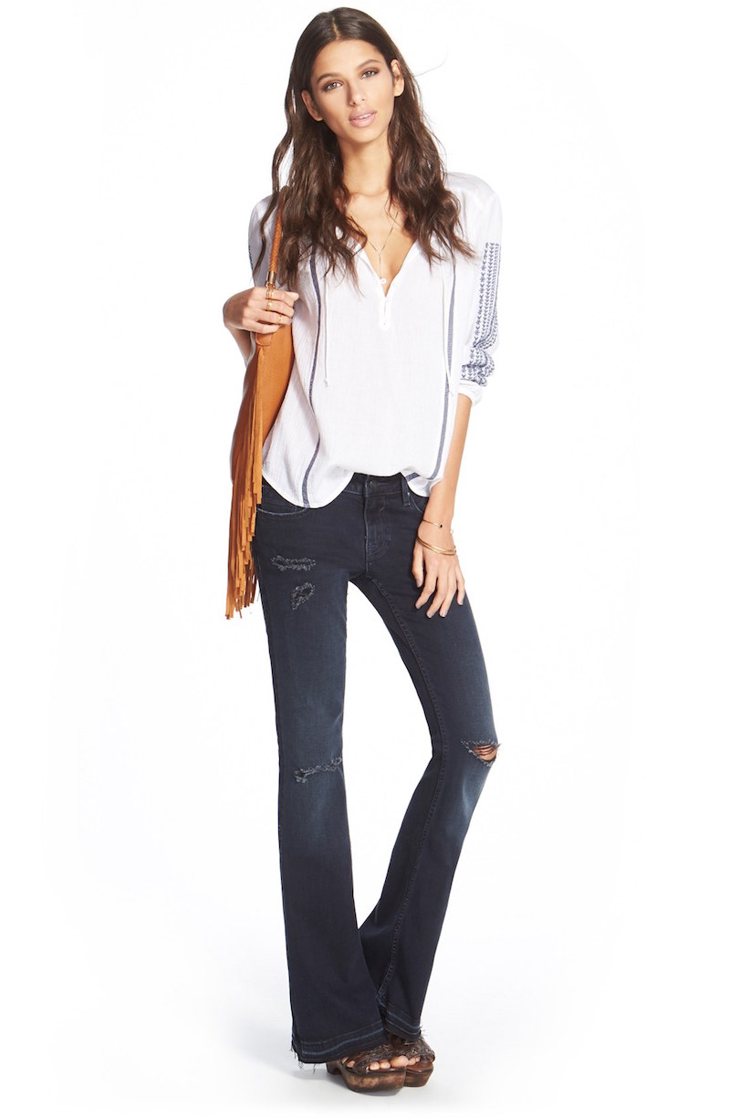 Vigoss Boho Flare Destroyed Jeans