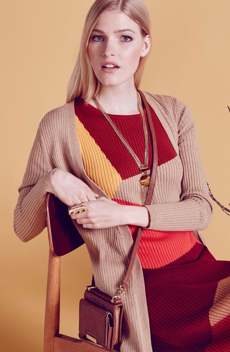 Vince Camuto Sleeveless Colorblock Sweater Dress