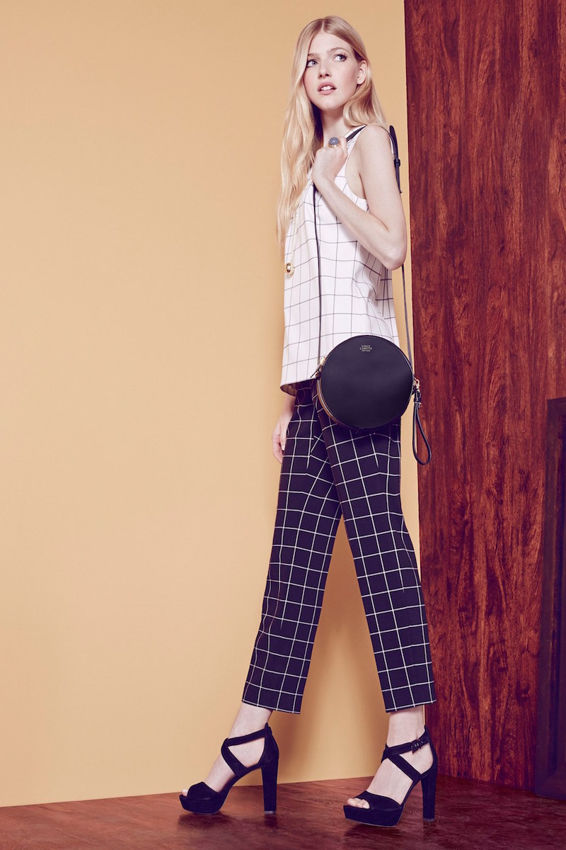 Vince Camuto Windowpane Check Ankle Pants