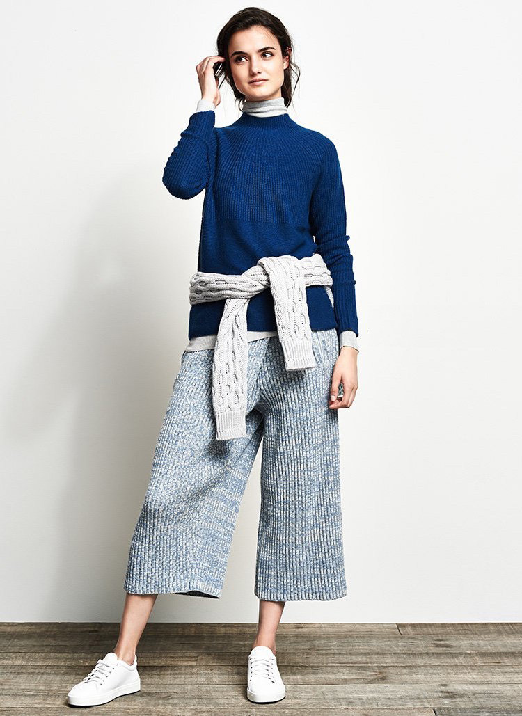 Vince Directional Rib Cashmere Sweater