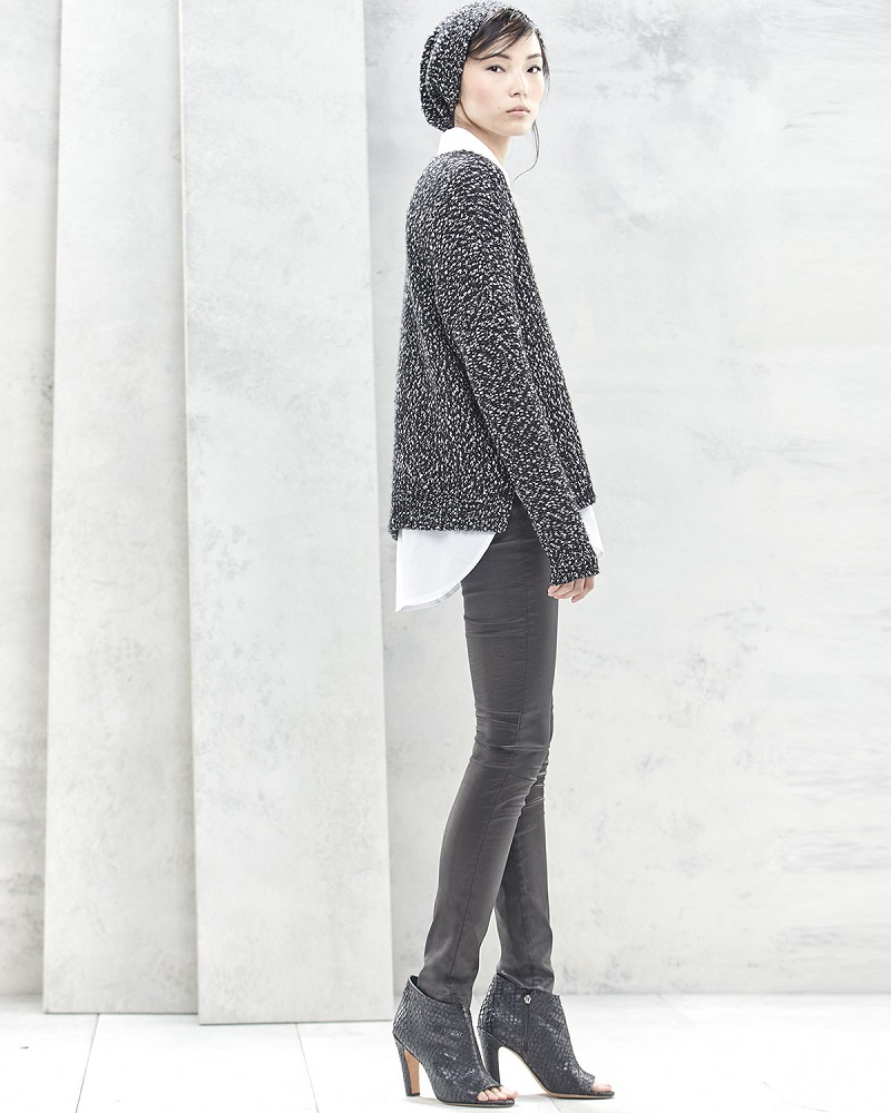 Vince Long-Sleeve Boucle Sweater