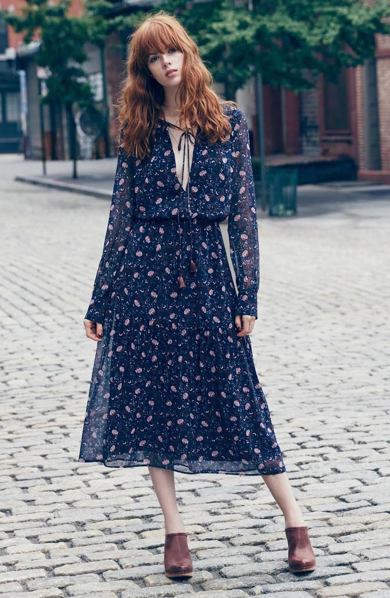 Wayf Keyhole Midi Dress
