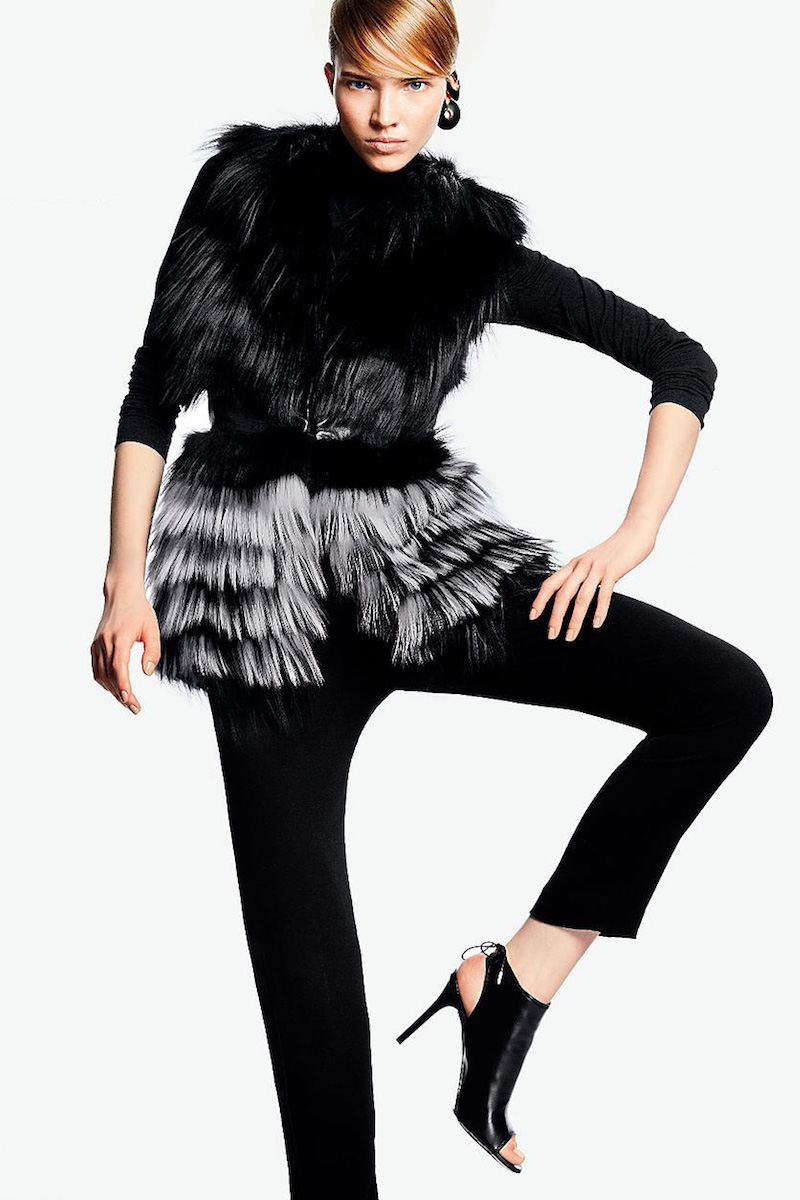 Yigal Azrouel Leather & Fox Fur Vest