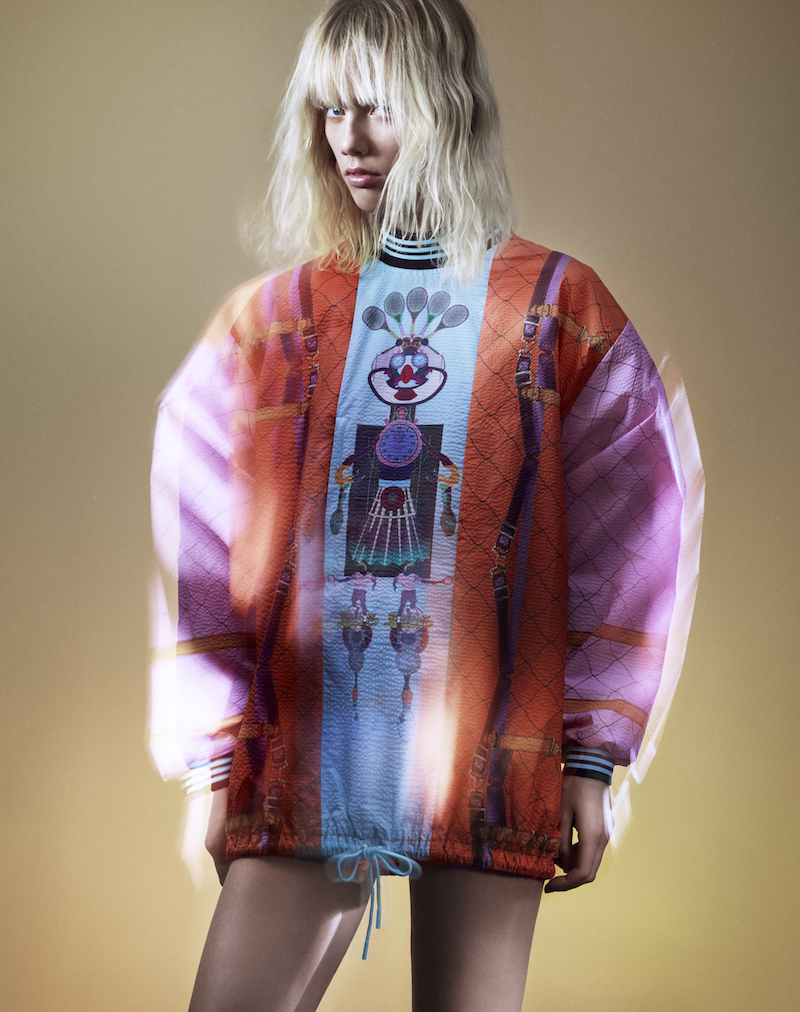 adidas Originals by Mary Katrantzou Digital-print High-neck Track Top