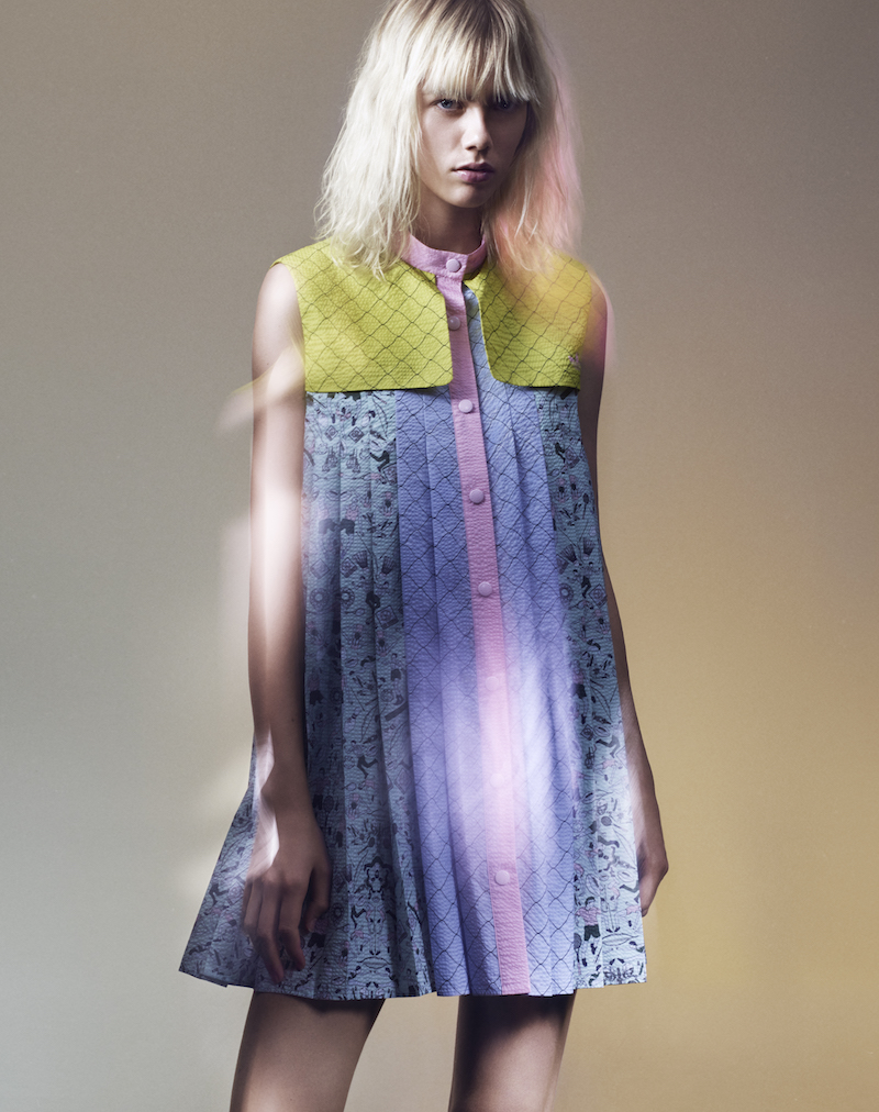 adidas Originals by Mary Katrantzou People-print Storm-flap Textured Dress