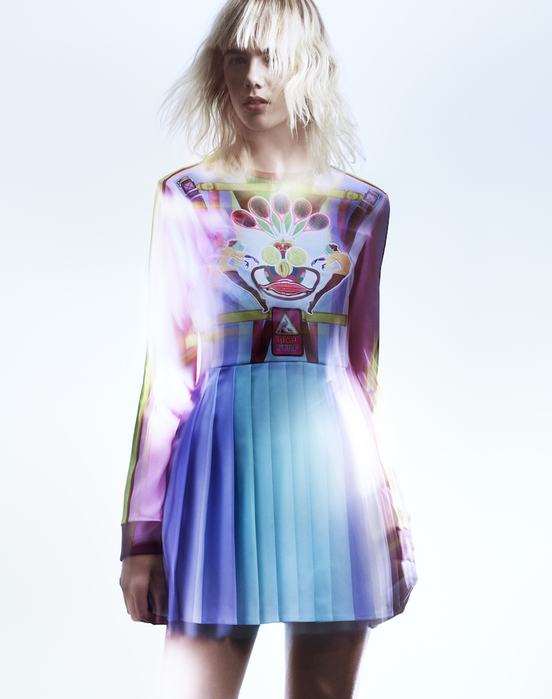 adidas Originals by Mary Katrantzou Print Pleated Dress