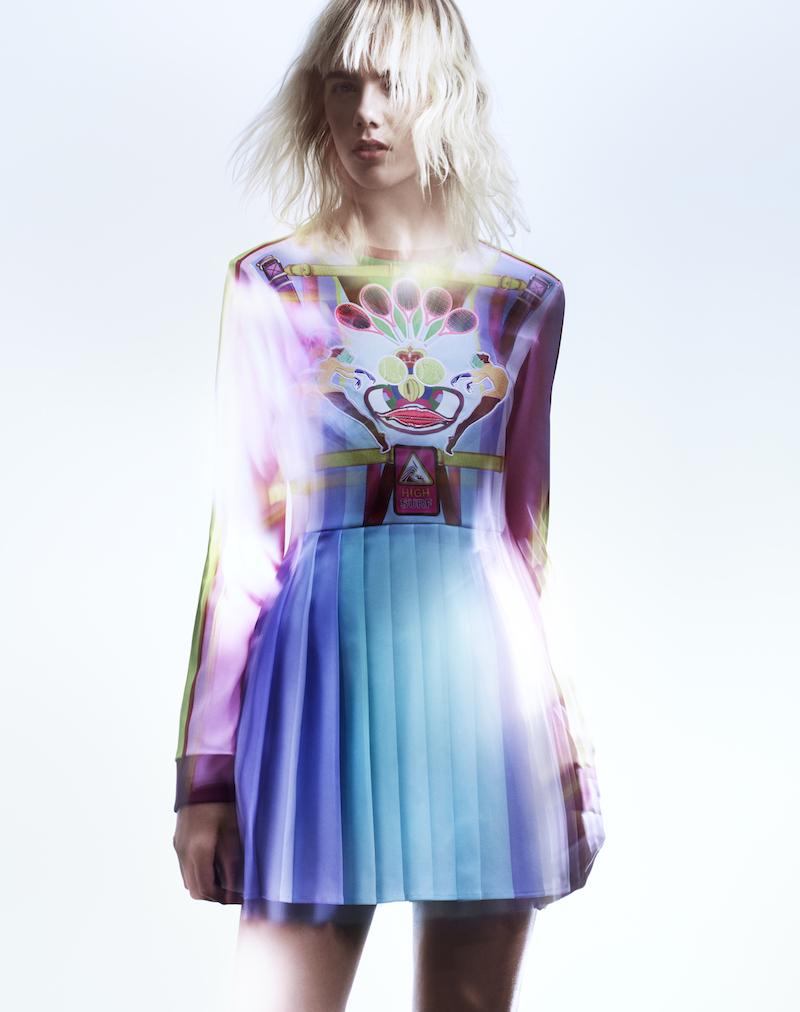 adidas Originals by Mary Katrantzou Print Pleated Dress