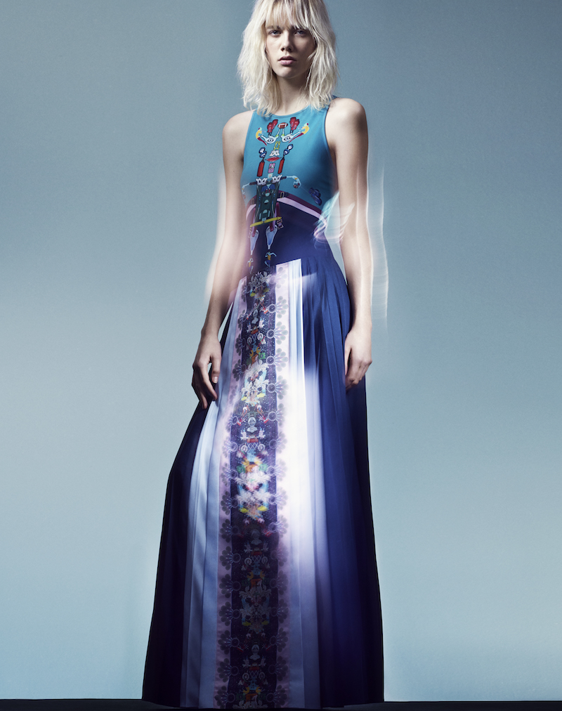adidas Originals by Mary Katrantzou Print Pleated Maxi Skirt