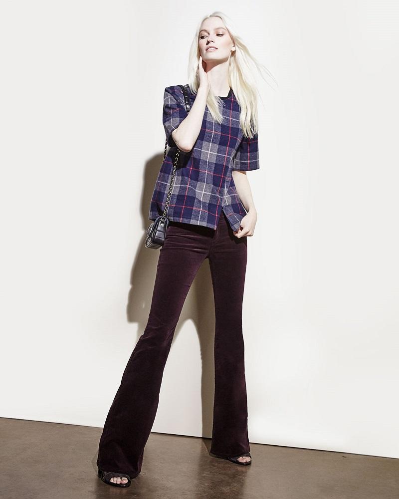 rag & boneJEAN Austin Plaid Short-Sleeve Top
