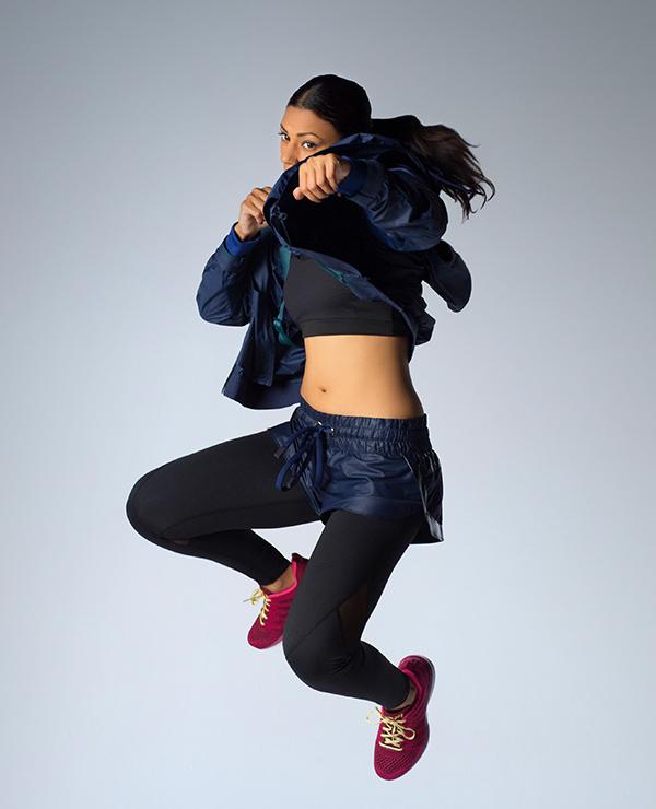 Adidas By Stella McCartney Printed-shoulder Performance Jacket