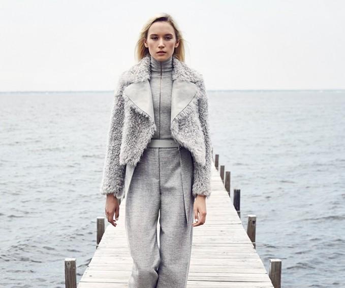 Akris Sheer Stripe Turtleneck Sweater