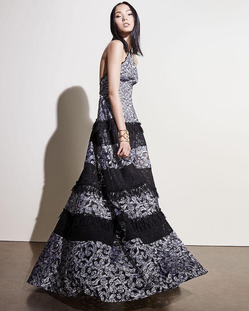 Alexis Imelda Floral Lace Maxi Halter Dress