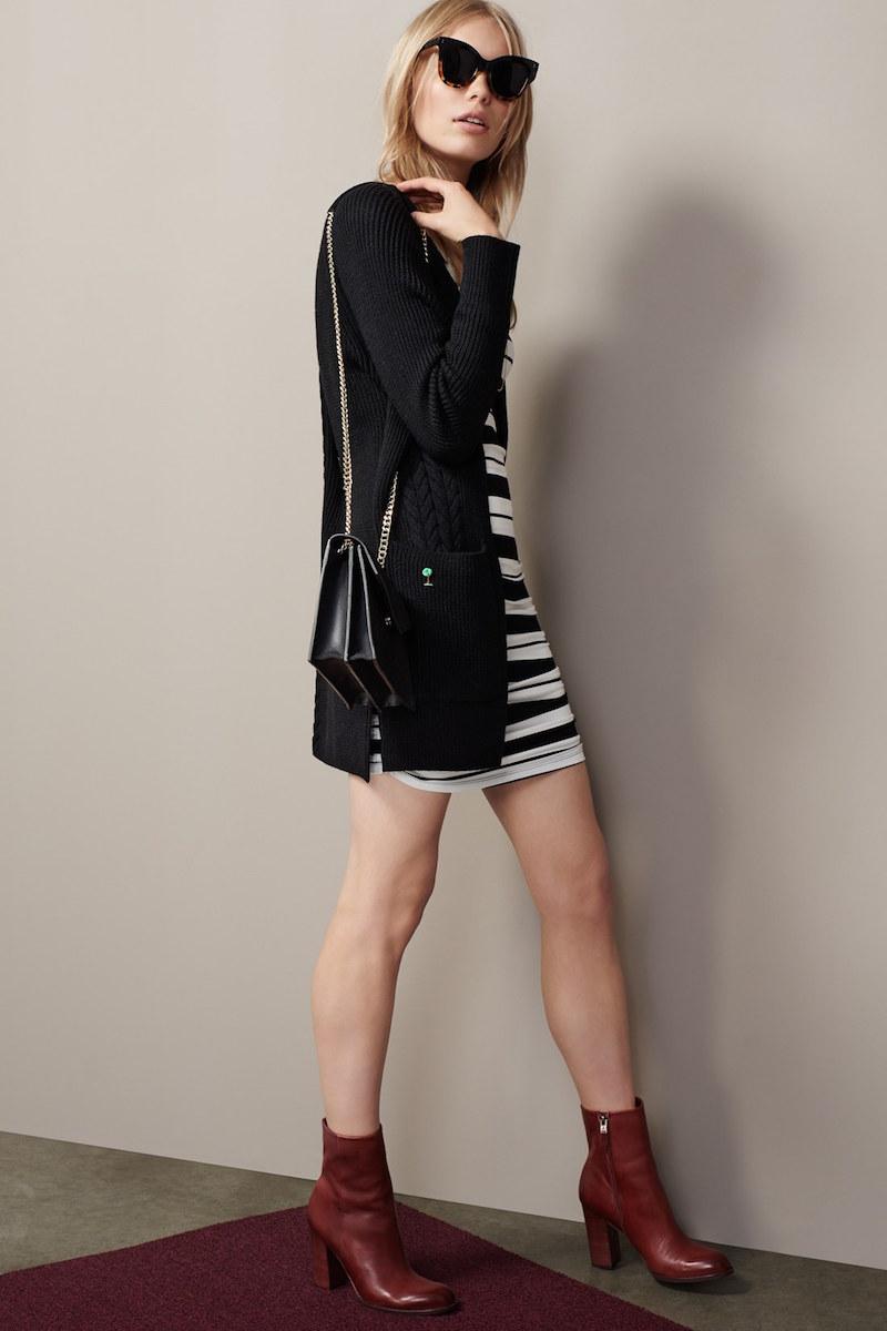 Amour Vert Gabriella Ruched Jersey Sheath Dress