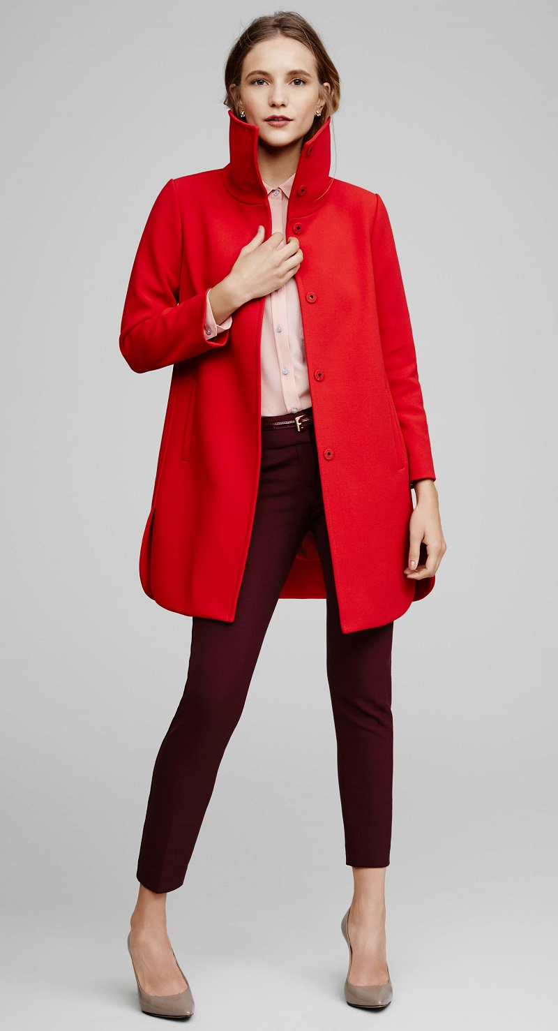 Ann Taylor Red Statement Coat