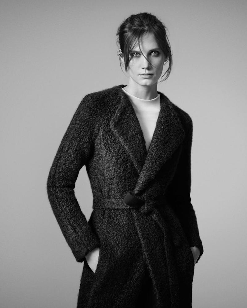 Atea Oceanie Bouclé Wrap Coat