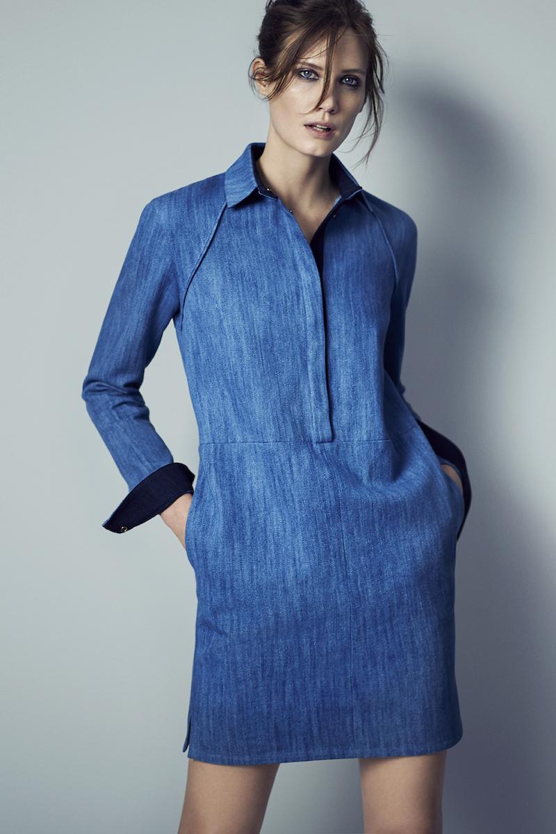 Atea Oceanie Denim-Inspired Shirtdress