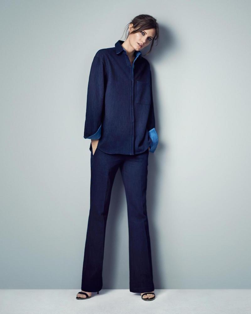 Atea Oceanie Denim-Inspired Trousers