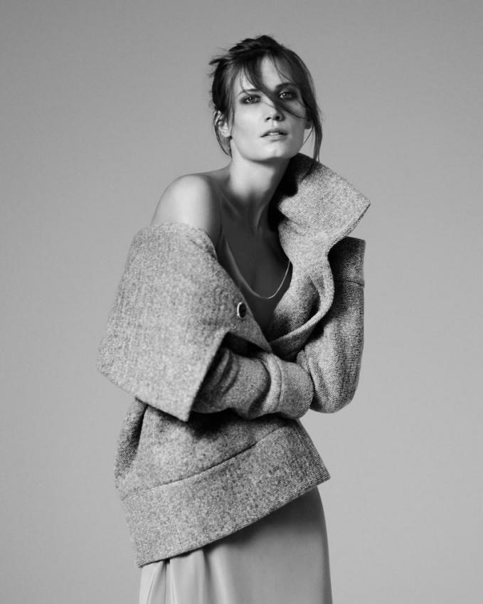 Atea Oceanie Tweed Cardigan Coat