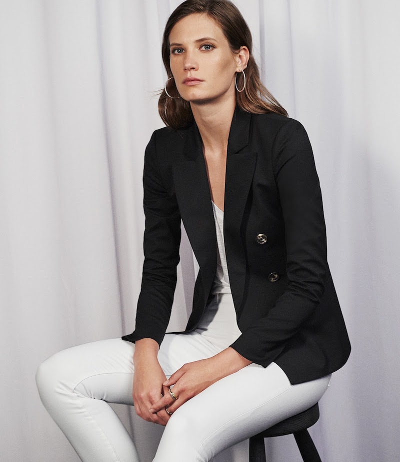 Barneys New York Double-Breasted Blazer
