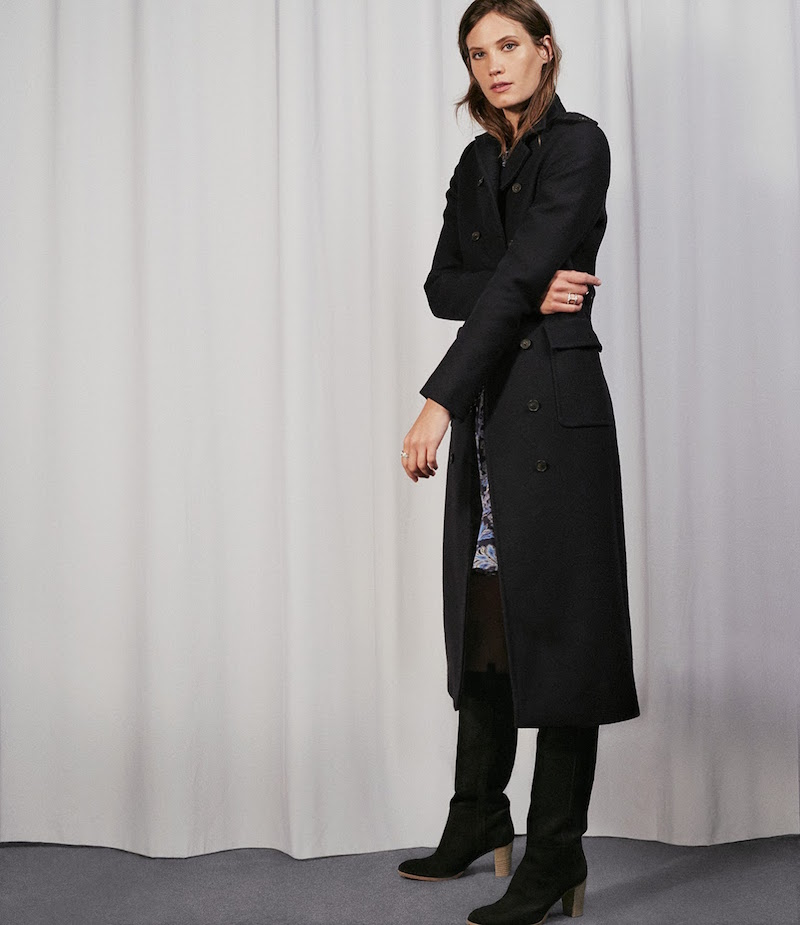 Barneys New York Military Long Coat