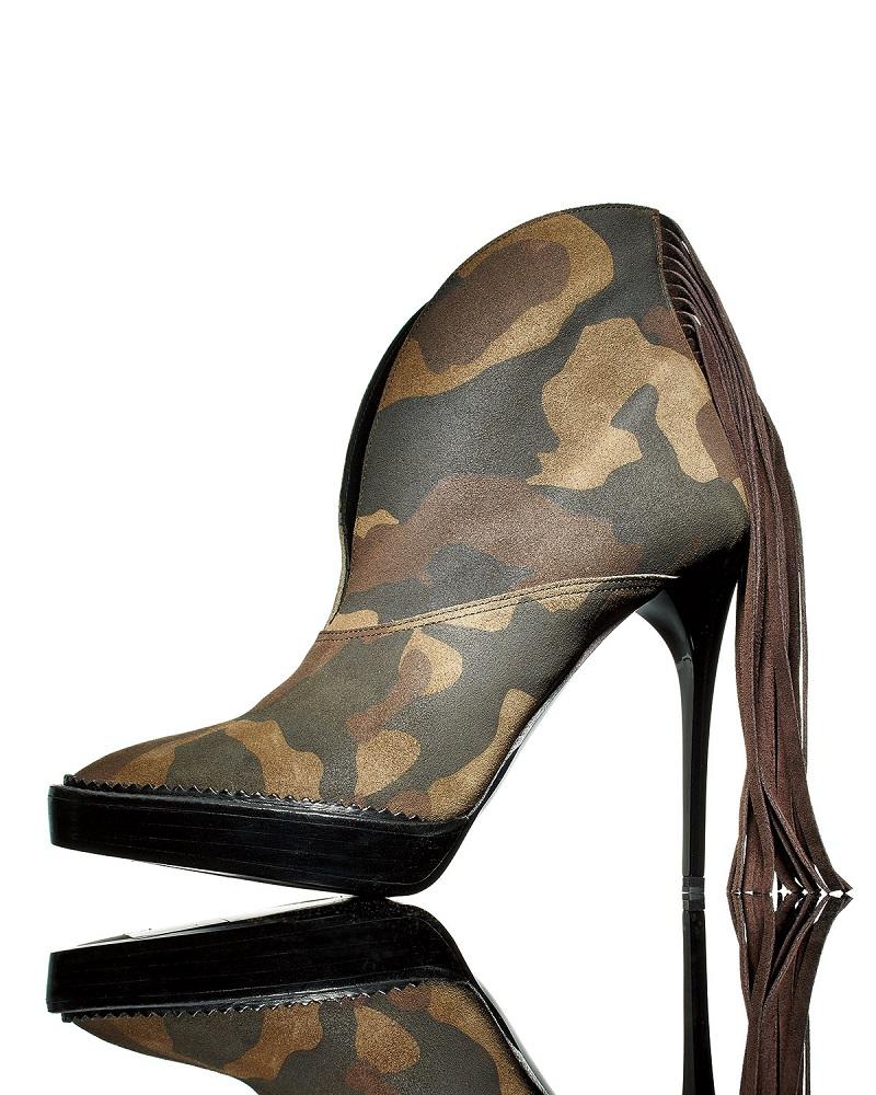 Burberry Nadine Camouflage Fringe Boot