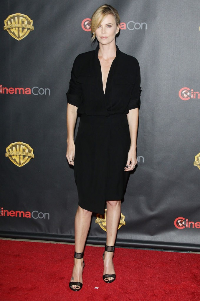 Charlize Theron Casadei Sheer Ankle Strap Sandals