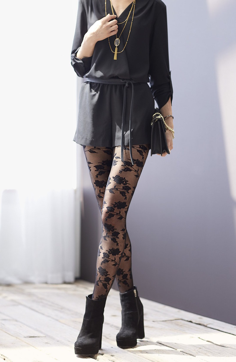 Chelsea28 Floral Net Tights