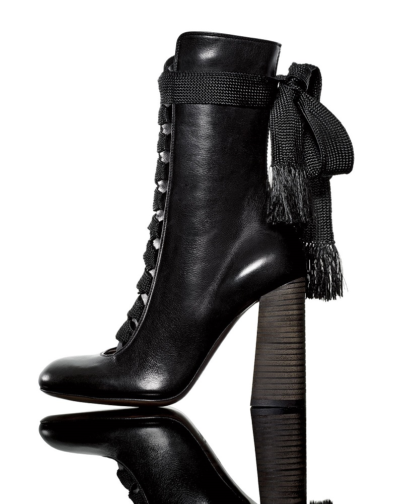 Chloe Leather Lace-Up Boot