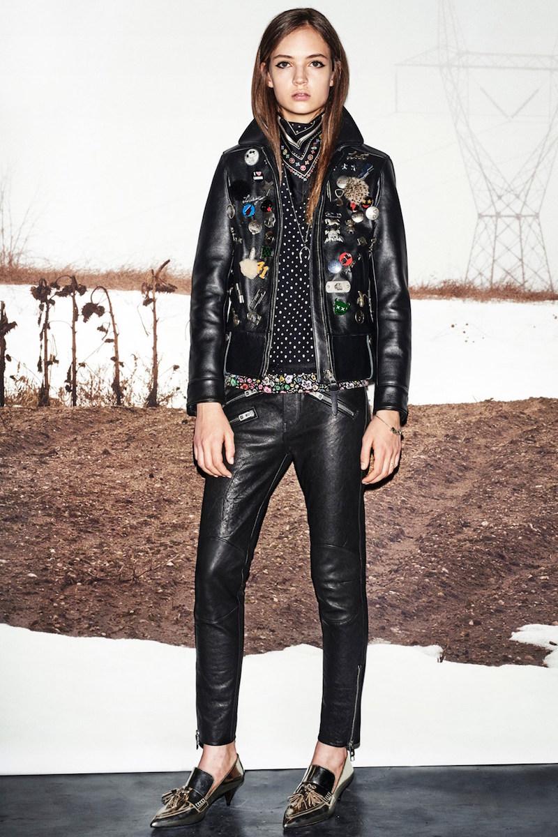 Coach Embellished Leather Jacket