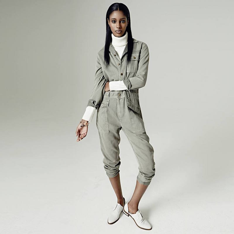 Current/Elliott The Rosie Stretch-Cotton Jumpsuit
