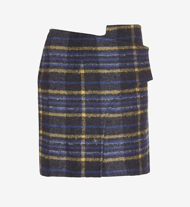 Derek Lam 10 Crosby Plaid Wrap Skirt
