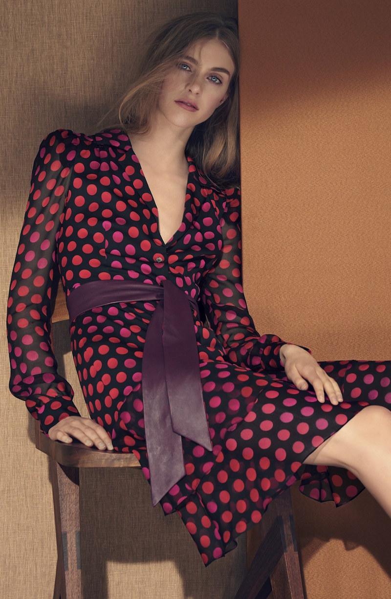 Diane von Furstenberg Catherine Two Silk Print Dress