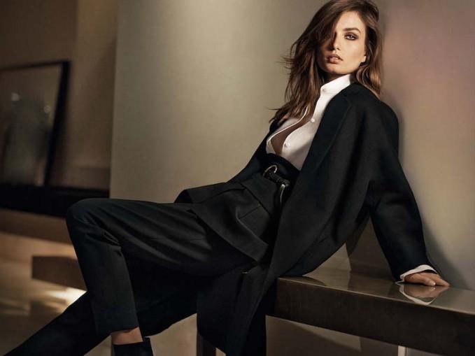 Donna Karan Tailored Gabardine Tapered Trouser