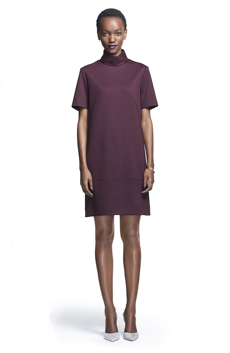 Donna Morgan Mock Neck Knit A-Line Dress