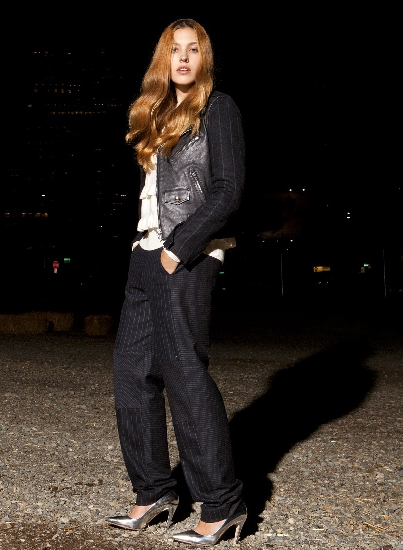EACH X OTHER Pinstriped Woven Jogging Pants