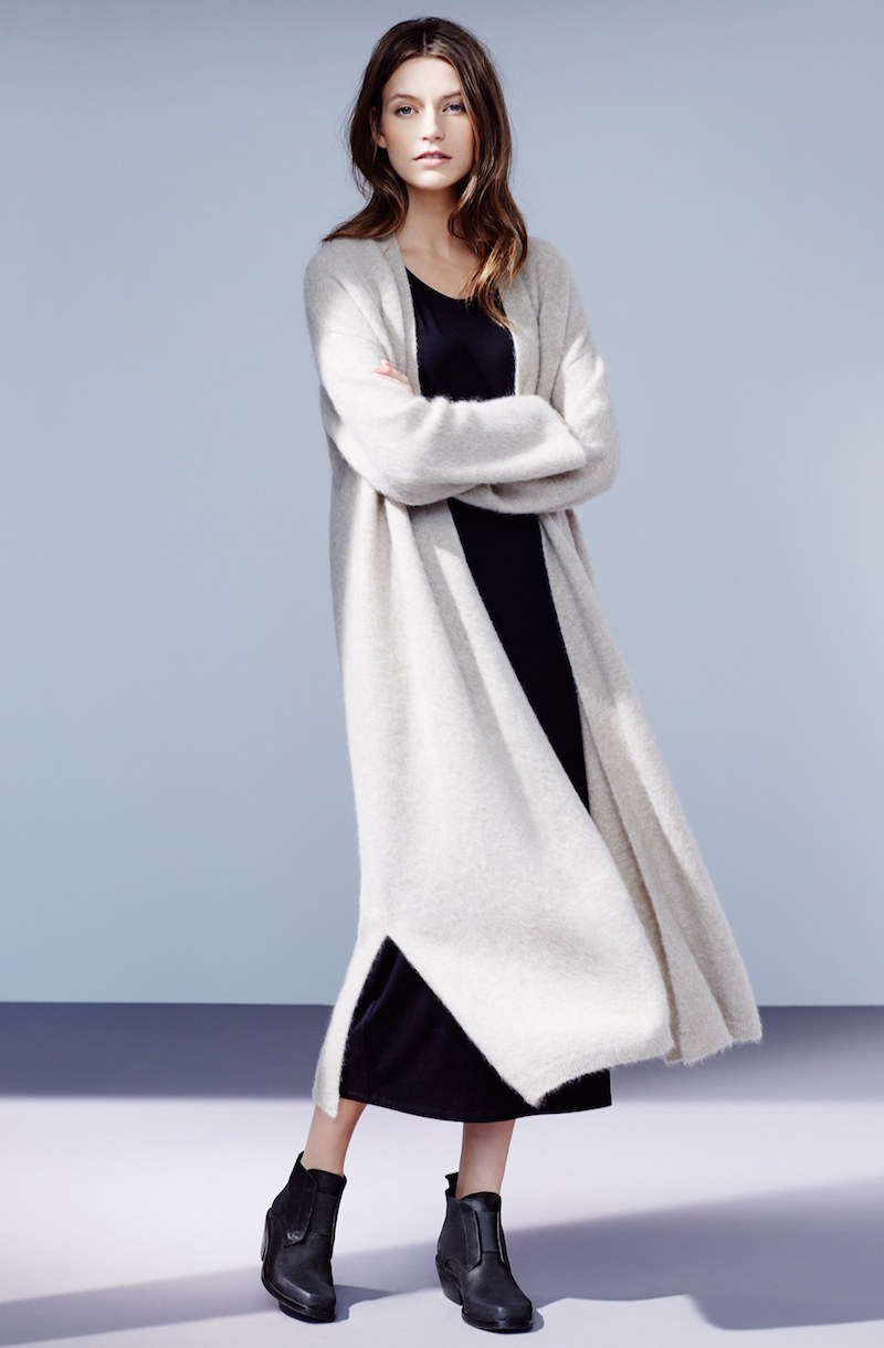 Eileen Fisher Long Straight Open Front Cardigan