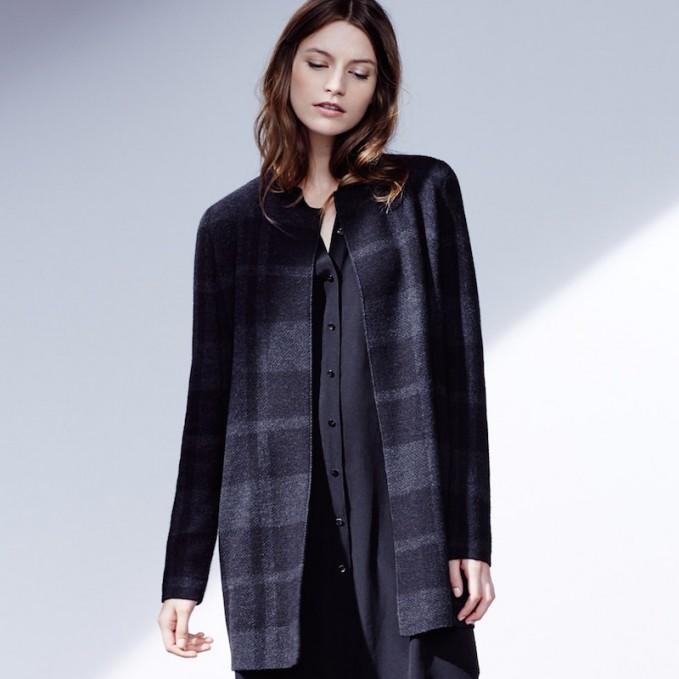 Eileen Fisher Plaid Merino Wool Jacket
