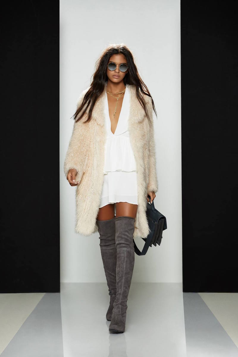 Elizabeth and James Hart Tibetan Lamb Fur Coat