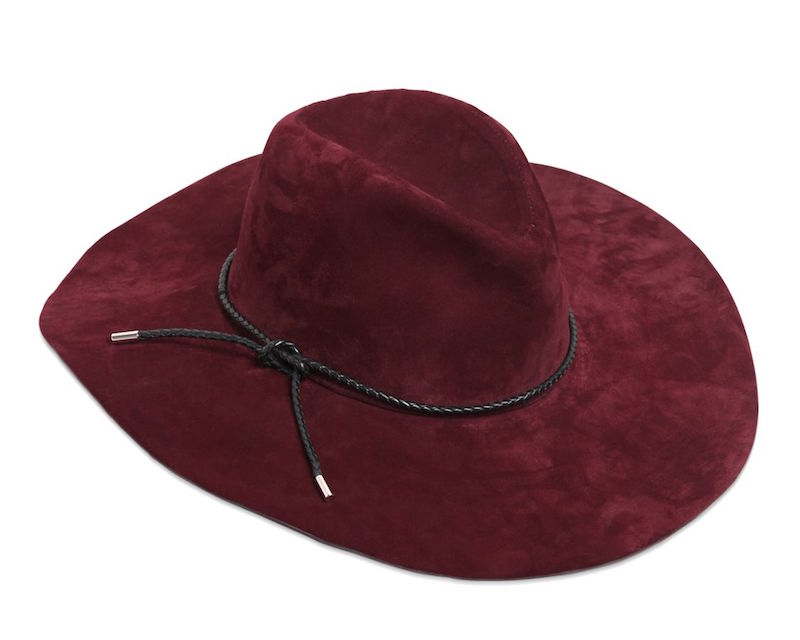 Emilio Pucci Braided Leather-Trimmed Suede Fedora