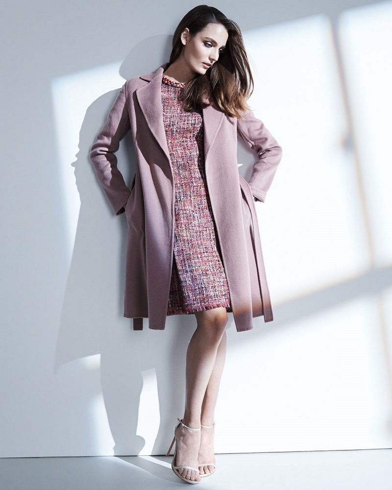 Escada Long-Sleeve Cashmere Wrap Coat