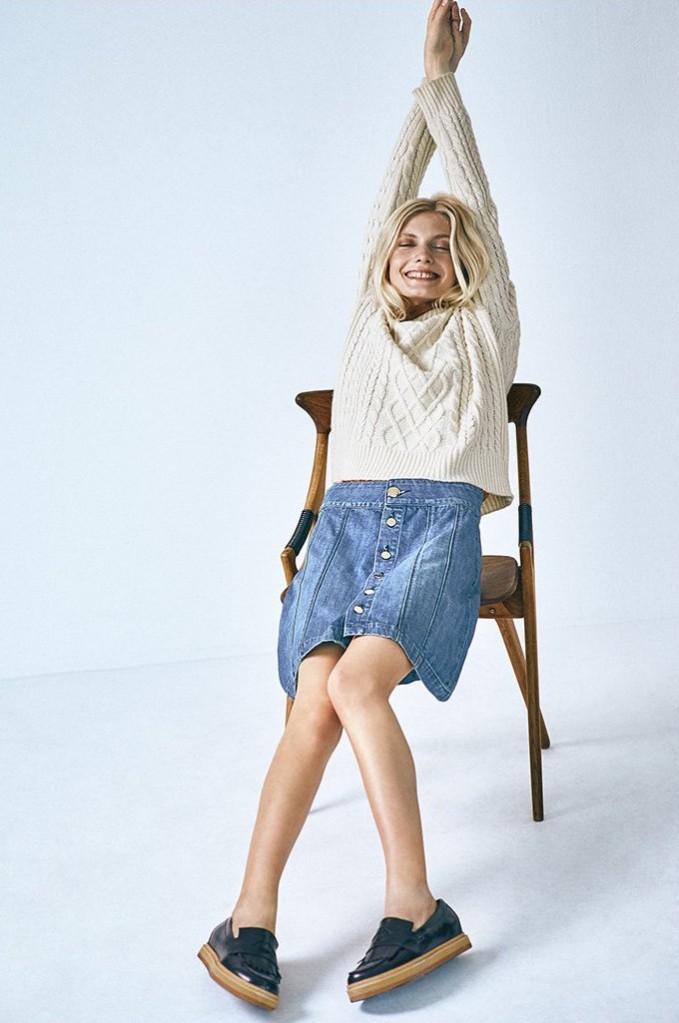 FRAME Le Panel Miniskirt