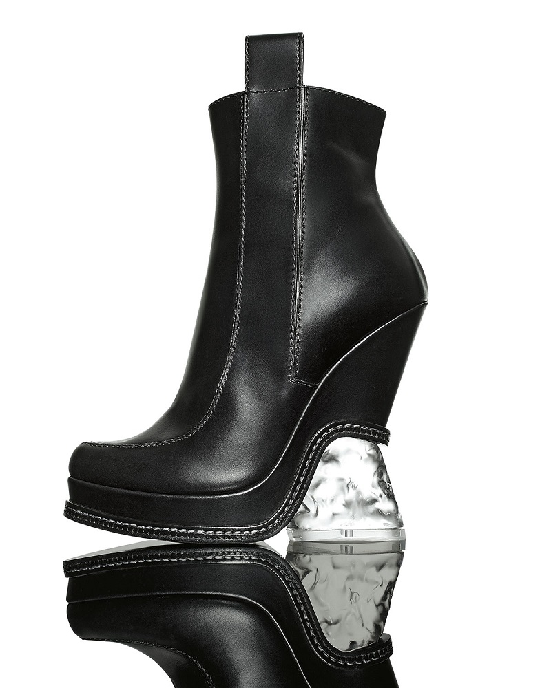 Fendi Leather Ice-Heel Boot